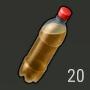 Botella con gasolina