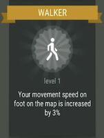Passive skill- WALKER