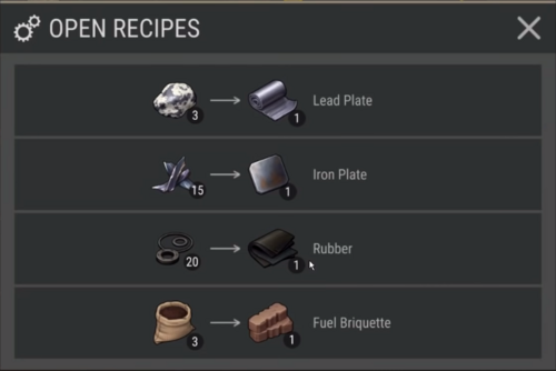 Pressing Machine Recipes