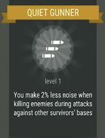 Passive skill- QUIET GUNNER