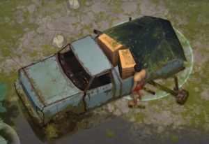 Old Pickup Truck at the launch of the game
