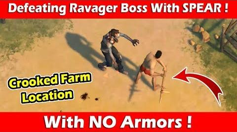 Defeating Ravager With Spear & No Armors (1.9