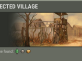 Infected village