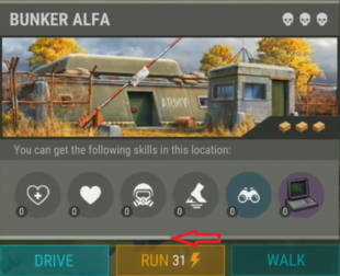 Exploration Experience meter2 arrow