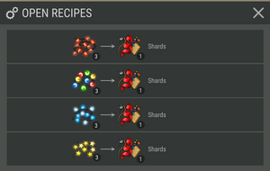 Shards Converter recipes