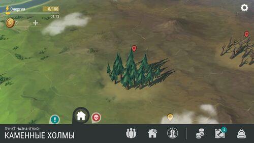 Сосновая чаща на карте