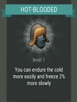 Passive skill- HOT-BLOODED