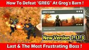 """How To Defeat 3rd Boss """"GREG"""" At Greg's Barn (1.11"""