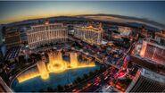 Las vegas sunset fountain show-2560x1440