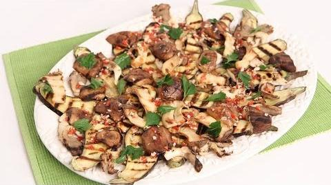 Grilled Eggplant & Wild Mushroom Salad Recipe - Laura Vitale - Laura in the Kitchen Episode 751-0