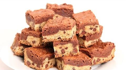 Learn to bake Cookie Dough Brownies!