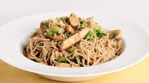 Sesame Noodle Salad with Grilled Chicken Recipe - Laura Vitale - Laura in the Kitchen Episode 957