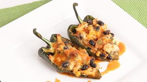 Chicken Enchilada Stuffed Peppers Recipe - Laura Vitale - Laura in the Kitchen Episode 956