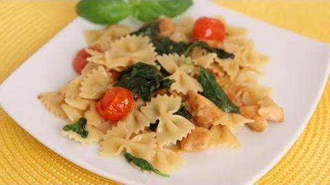 Bowties Florentine Recipe - Laura Vitale - Laura in the Kitchen Episode 564