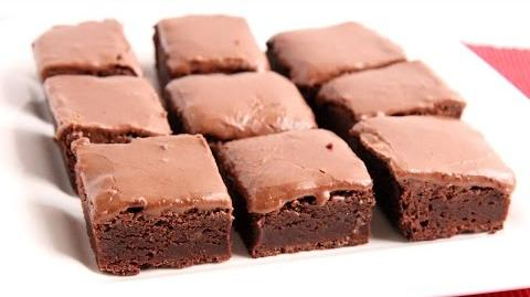 Learn to bake Glazed Chewy Brownies!-0