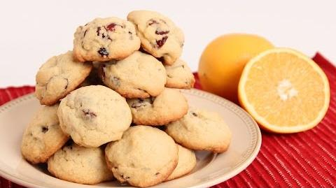 Learn to bake Cranberry Orange Cookies!