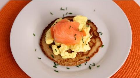 Homemade Blinis with Smoked Salmon - Laura Vitale - Laura in the Kitchen Episode 532
