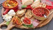 Italian Antipasti Bruschetta & Roasted Peppers