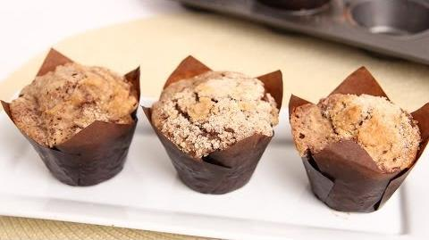 Learn to bake Chocolate Crumb Cake Muffins!