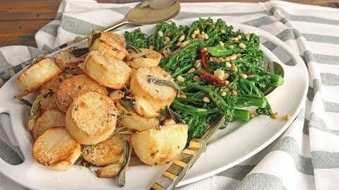 Parm_Roasted_Potatoes_&_Garlic_Pine_Nut_Broccolini_Episode_1210