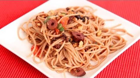 Sweet and Salty Spaghetti Recipe - Laura Vitale - Laura in the Kitchen Episode 638