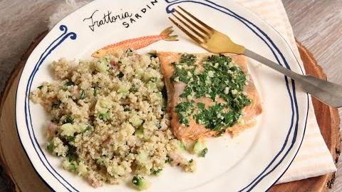 Buttery Garlic Roasted Salmon Fillet Recipe - Laura in the Kitchen Episode 1149