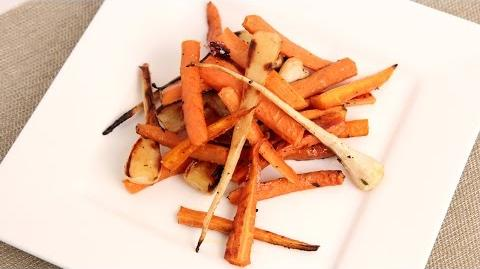 Learn to bake Honey and Thyme Roasted Carrots and Parsnips!