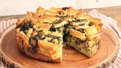 Sausage & Broccoli Rabe Pasta Pie 🍝 Episode 1171