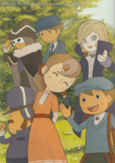 Layton Artbook Commemorative Illustation 1