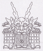 Pagodenturm Eingang Konzept
