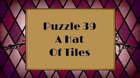 Professor Layton and the Miracle Mask - Puzzle 39 A Hat Of Tiles