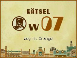 Weg mit Orange!