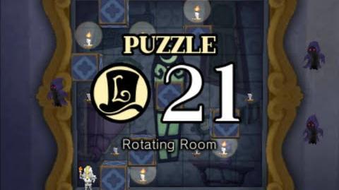 Puzzle Solution Puzzle 21 - Rotating Room (Professor Layton vs Phoenix Wright Ace Attorney)