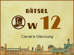 Clevere Gleichung