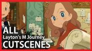 Layton's Mystery Journey - All Cutscenes (Game Movie HD)