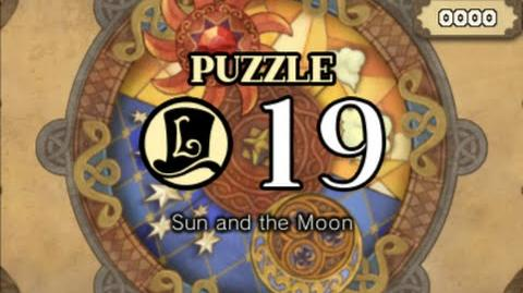 Puzzle Solution Puzzle 19 - Sun and the Moon (Professor Layton vs Phoenix Wright Ace Attorney)