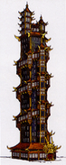 Pagodenturm Konzept