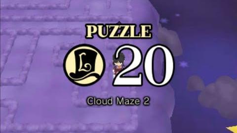 Puzzle Solution Puzzle 20 - Cloud Maze 2 (Professor Layton vs Phoenix Wright Ace Attorney)