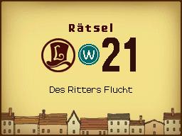 Des Ritters Flucht