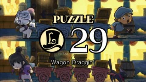 Puzzle Solution Puzzle 29 - Wagon Draggin' (Professor Layton vs Phoenix Wright Ace Attorney)