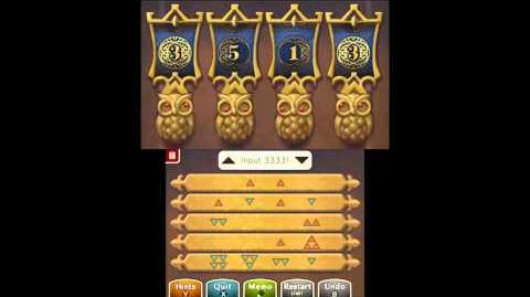 Puzzle Solution Puzzle 36 - Decipher the Door (Professor Layton vs Phoenix Wright Ace Attorney)