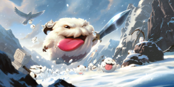 A fluft of Poros charging to battle.