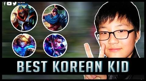 Best Korean Kid - Amazing Kid Plays - League of Legends