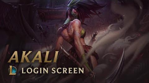 Akali, die rebellische Assassine - Login Screen