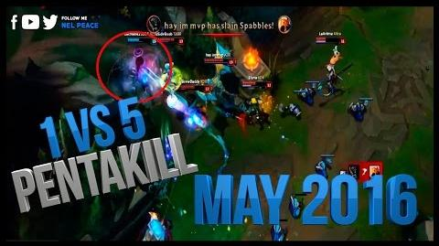 One vs Five Pentakill - May 2016 - Best Pentakills Ever 2016