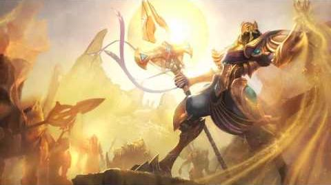 Azir League Of Legends Login Screen Com Música