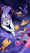 Cats Versus Dogs Cats in Space