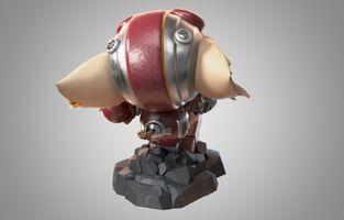 Ziggs Statue model 02