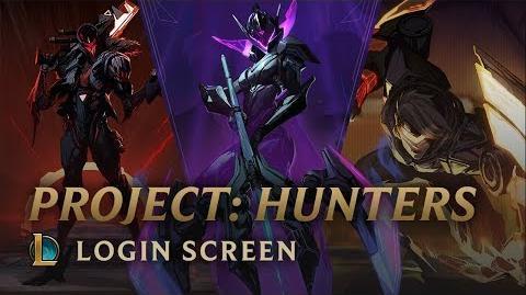 PROJECT Hunters - Login Screen