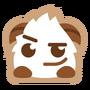 Poro sticker smirk